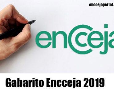 Gabarito Encceja 2019